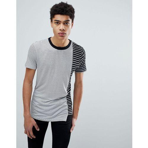 cut and sew asymetrical t-shirt - black marki D-struct