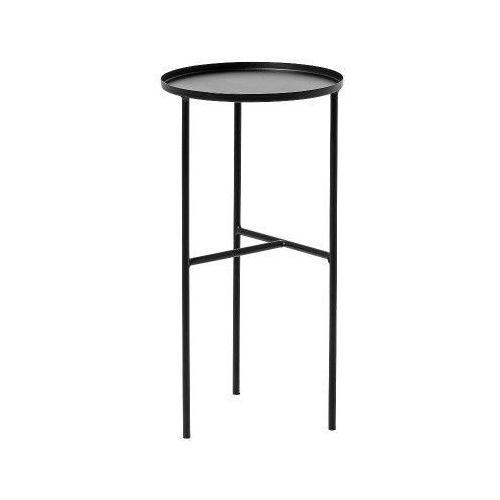 Metalowy okrągły stolik podręczny, czarny - Bloomingville