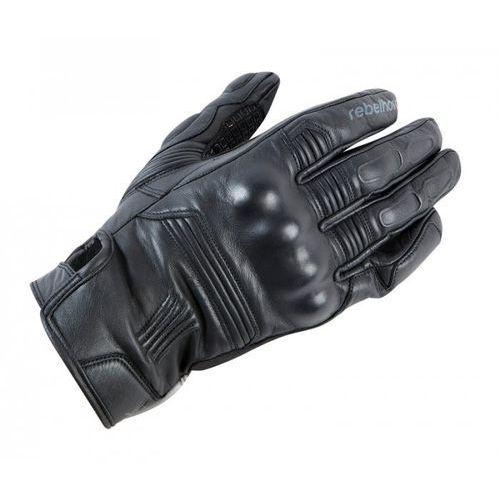 Rękawice skórzane rebelhorn thug pro black marki Rebelhorn_sale