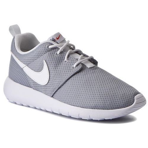 Buty NIKE - Roshe One (GS) 599728 038 Wolf Grey/White/Safety Orange
