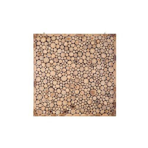 Beliani Mozaika - ozdoba na ścianę - dekoracja ścienna - 82x82 cm - twig (4260580920099)