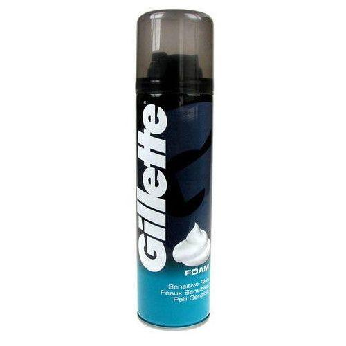 Gillette Shave Foam Sensitive 300ml M Pianka do golenia do skóry wrażliwej z kategorii Pianki do golenia