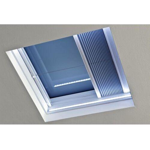Okpol Okno do dachów płaskich pgx a1 pvc 100x150 nieotwierane z oświetleniem led