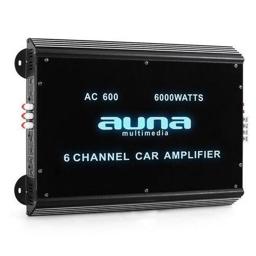 6-kanałowy wzmacniacz samochodowy Auna 6000W akryl (4260236115053)
