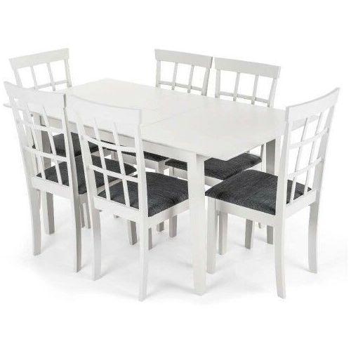Meblemwm Stół rozkładany miami + 6 krzeseł helena pebble