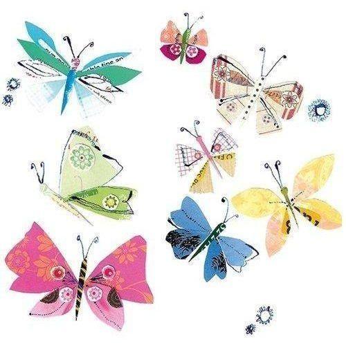 Museums & galleries Karnet kwadrat z kopertą fluttering butterflies (5015278316154)