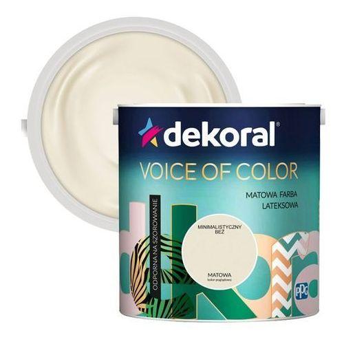Farba voice of color minimalistyczny beż 2,5 l marki Dekoral