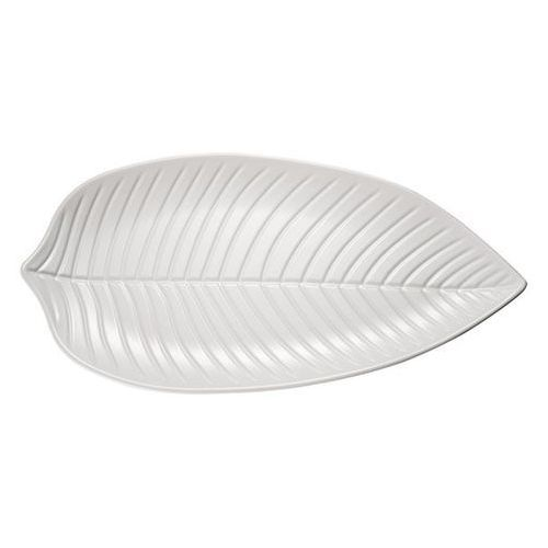 Półmisek z melaminy w kształcie liścia | biały | różne wymiary
