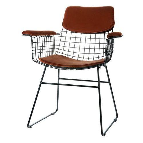 HK Living Zestaw COMFORT brązowy do krzesła Wire z podłokietnikami TOT4024, TOT4024