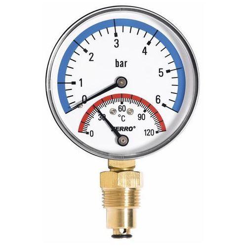 Termomanometr Ferro 6 bar 0-120 fi 80 mm Radial (5901095655128)