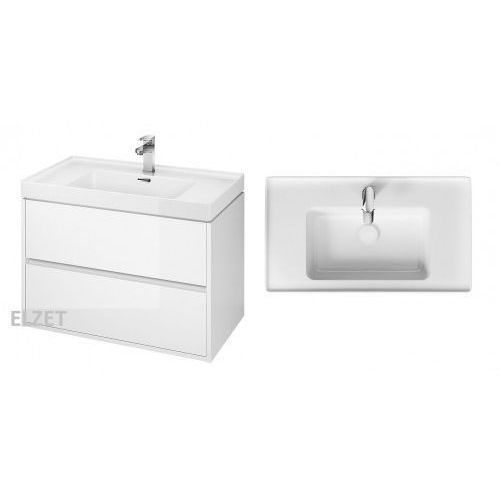 szafka crea biały połysk + umywalka crea 80 s924-004+k114-017 marki Cersanit