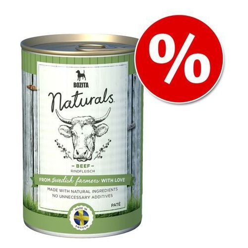 Bozita  naturals pate, 6 x 625 g w super cenie! - wołowina (7300330051530)