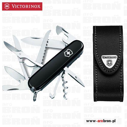 Victorinox Scyzoryk  huntsman czarny 1.3713.3 + etui 4.0520.3