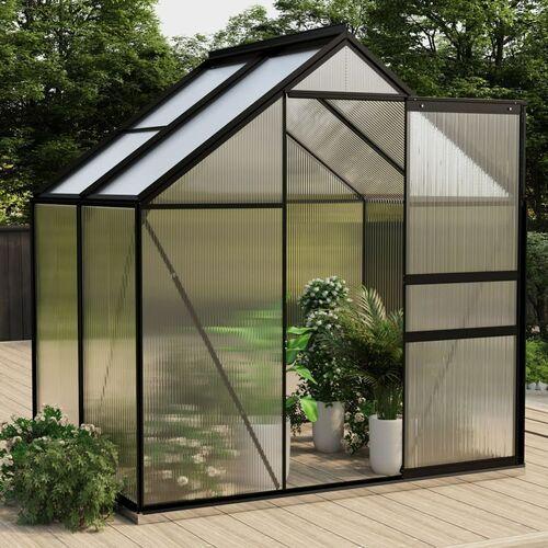 Vidaxl szklarnia, antracytowa, aluminium, 2,47 m²
