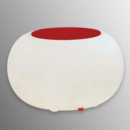 Stolik BUBBLE, białe światło i czerwony filc