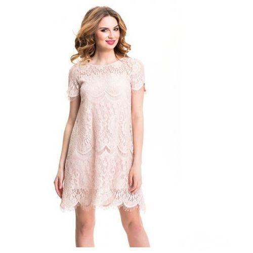 2eff7f903c WESELE Zwiewna koronkowa sukienka    46