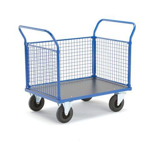 Wózek platformowy, 3 ramy z siatki, 1165x700 mm, bez hamulców