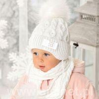 Komplet 38-429 czapka+szalik rozmiar: uniwersalny, kolor: wielokolorowy, ajs marki Ajs