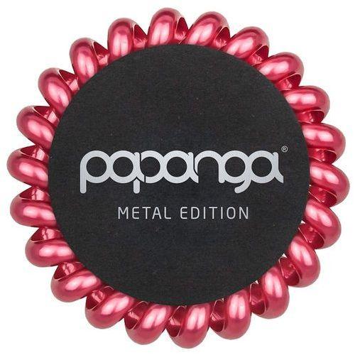 Papanga Pink Royal Metallic Big | Elastyczna gumka do włosów (duża): metaliczna czerwień