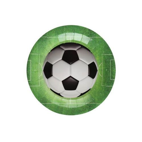 Santex Talerzyki urodzinowe piłkarskie soccer - 22,5 cm - 10 cm