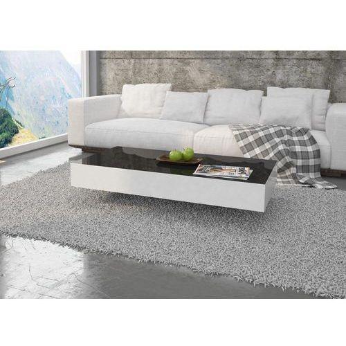 Stolik pixel 120cm czarno-biały wysoki połysk marki Mato design