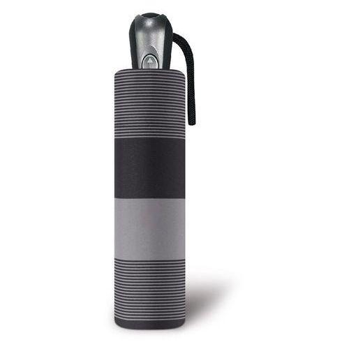 Pierre cardin figaro składany męski parasol automatyczny easymatic 56/10 - czarno-szare paski (4012428859883)