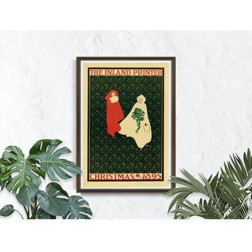 Vintageposteria.pl Plakat plakat drukarka śródlądowe, boże narodzenie 1895