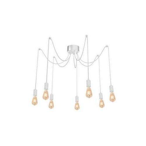 Luminex Spindel 4113 lampa wisząca zwis 7x60W E27 biały (5907565941135)