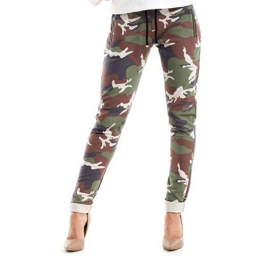 Bawełniane wygodne damskie spodnie moro 239_1 marki Moe