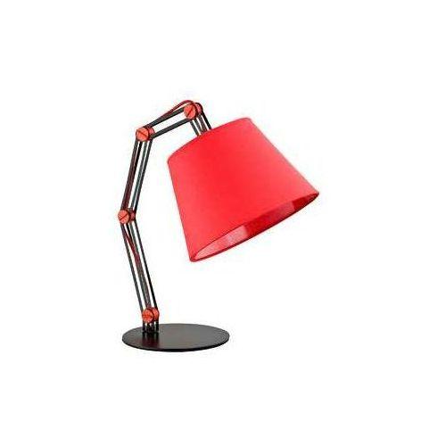 Lampka biurkowa lampka stołowa lampa nocna oprawa anakin red 1x60w e27 czarny czerwony 22578 marki Alfa
