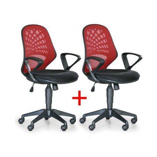 Krzesło biurowe Fler 1+1 Gratis, czerwony