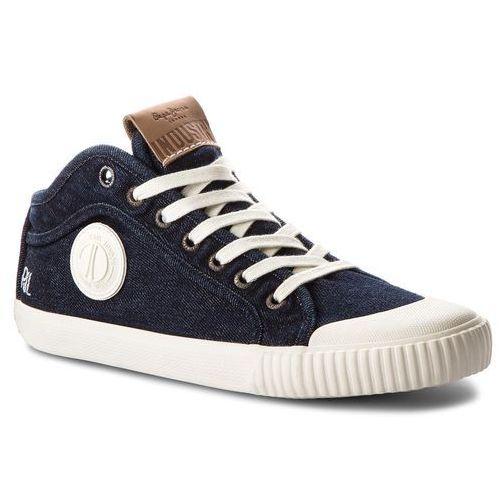 Pepe jeans Trampki - industry blue denim pms30434 dk denim 559