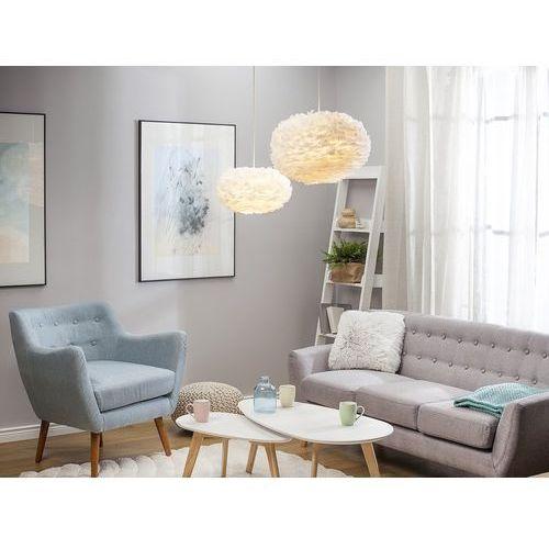Lampa sufitowa wraz z oprawą - biała - fog marki Beliani