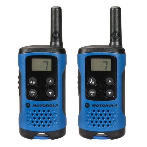 Motorola TLKR PMR urządzenie radiowe z wyświetlaczem LC, niebieski