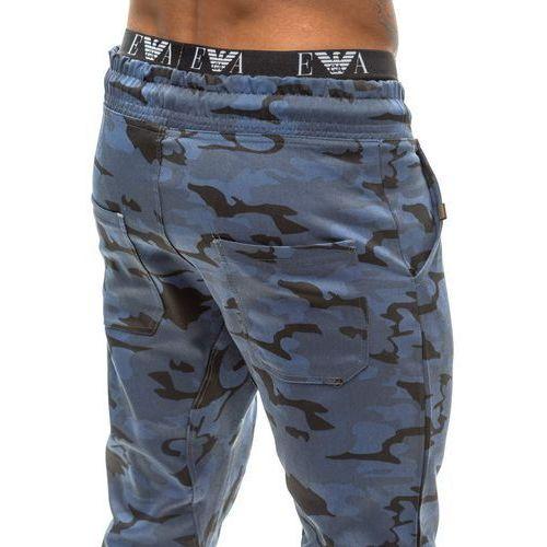 Moro-granatowe spodnie dresowe joggery męskie Denley 0367, dresowe