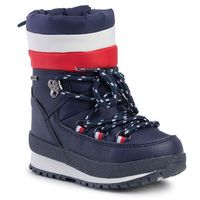 Śniegowce TOMMY HILFIGER - Technical Bootie T1B6-30536-0328 M Blue/Red/White Y019, kolor niebieski