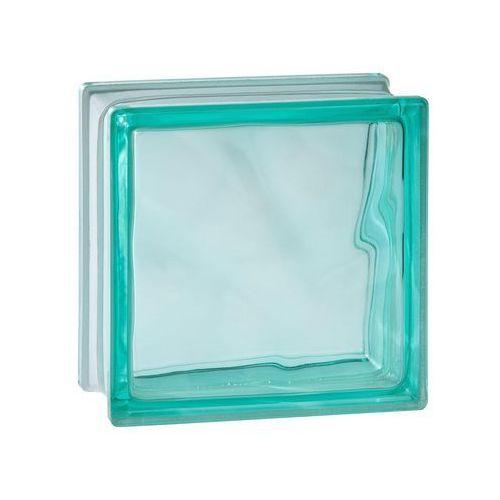 Seves basic Pustak szklany 1919/8 turquoise wave szer. 19 cm x gł. 8 cm (8594001629022)