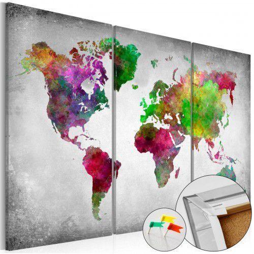 Obraz na korku - różnorodność świata [mapa korkowa] marki Artgeist