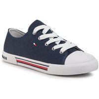 Trampki TOMMY HILFIGER - Low Cut Lace-Up Sneaker T3X4-30692-0890 S Blue 800, kolor niebieski