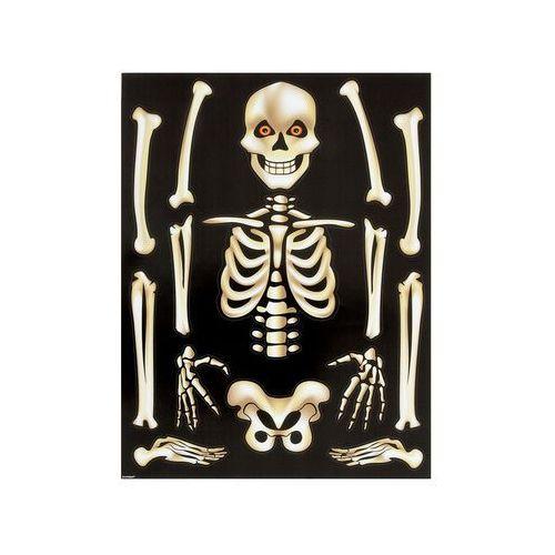 Unique Naklejki szkielet na halloween - 29 x 38 cm - 15 elementów (0011179880621)