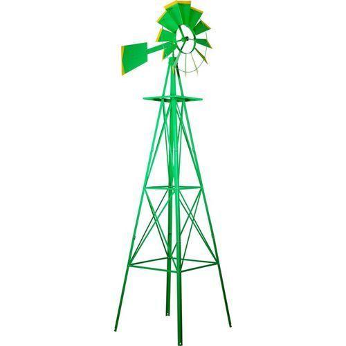 Makstor.pl Zielony wielki wiatrak 245 cm dekoracja na ogród
