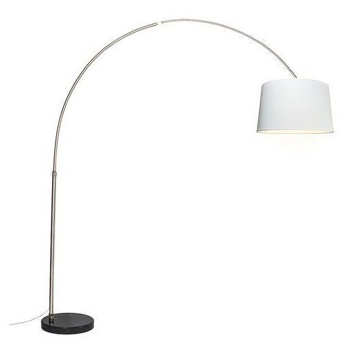 Lampa podlogowa luk XXL stal klosz 50cm bialy, towar z kategorii: Lampy stojące