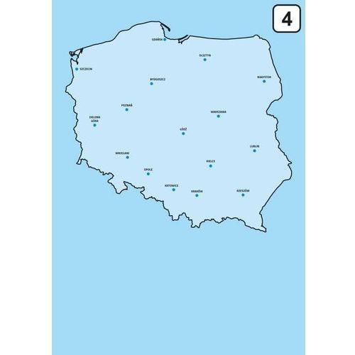 Wally - piękno dekoracji Magnetyczna tablica suchościeralna mapa polski 239