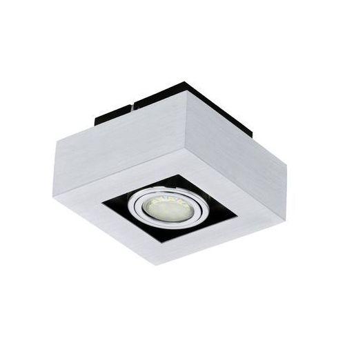 Plafon lampa sufitowa loke 1 91352  natynkowa oprawa metalowa ip20 kwadrat chrom wyprodukowany przez Eglo