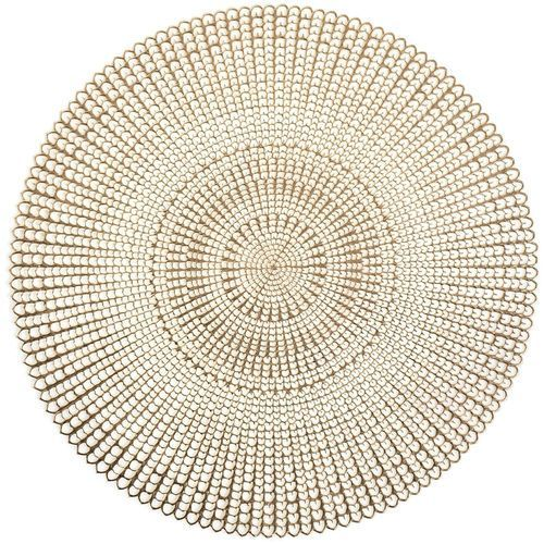 Zeller Podkładka ochronna, dekoracyjna mata na stół - kolor złoty, Ø 41 cm, (4003368268187)