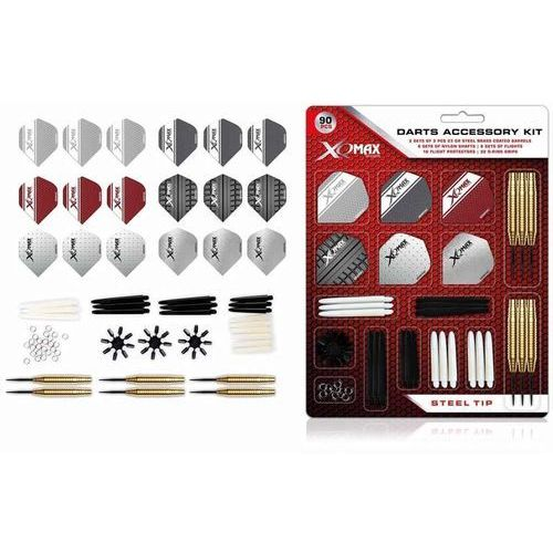 XQmax Darts Zestaw rzutek, 90 części, 23 g, steeltip, QD7000700