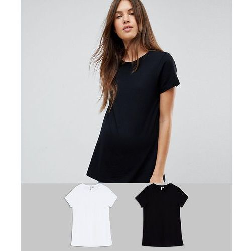 Asos maternity Asos design maternity ultimate crew neck t-shirt 2 pack save - multi