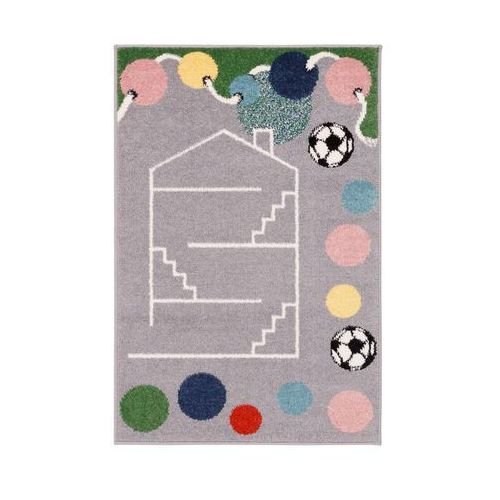 Agnella Dywan dziecięcy house szary 80 x 120 cm