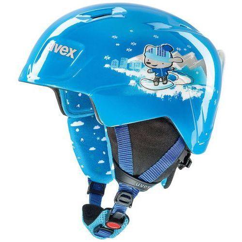 Dziecięcy kask narciarski manic niebieski 566/226/4001 46-50 xs marki Uvex