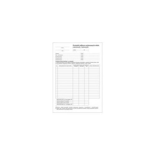 Protokół odbioru wykonanych robót [Pu/Pb-34] (5907510474237)
